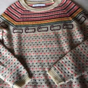 Woolrich sheep sweater excellent sz Lrg cute!!!